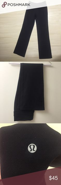 Lululemon yoga pants Black lululemon yoga pants in perfect condition! Interior pocket in the waist band. No trades but feel free to make an offer! lululemon athletica Pants