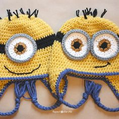 Repeat Crafter Me: Crocheted Free Minion Hat Patterns