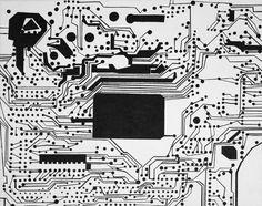 "Saatchi Online Artist: Jean Alexander Frater; Acrylic, 2009, Painting ""tuner, circuit board"""