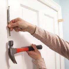 We'll show you a simple fix that will keep interior doors from swinging all the way open if you leave them slightly ajar. It's an annoying problem with an easily solution that you can do yourself. All it takes is bending the hinge pin.