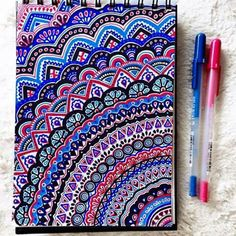 Most popular tags for this image include: art, drawing, colors, mandala and