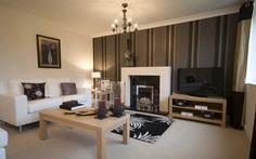 Projektowanie wnętrz, styl, pokój, kanapa, poduszki, tv, malarstwo, żyrandole, lampy, świece wektor