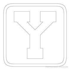 printable block letter stencil y
