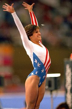 Mary Lou Retton, the first American woman gymnast to win Olympic gold for the all-around event; she had the most Olympic medals of any athlete at the 1984 Olympics. 1984 Olympics, Summer Olympics, Special Olympics, Olympic Medals, Olympic Games, All Around Gymnastics, Gymnastics History, Women's Gymnastics, Amazing Gymnastics