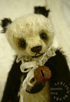 Meet Quentin Mohair Panda Style Artist Teddy Bear from Aerlinn Bears