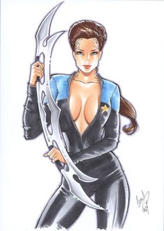 Jadzia Dax by Elias-Chatzoudis.deviantart.com on @deviantART
