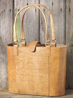 Tan Jawaja Leather Tote Bag