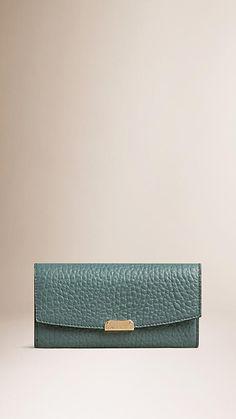 0067516b1ecb Celadon blue Signature Grain Leather Continental Wallet Celadon Blue -  Image 1 Wallets For Women,