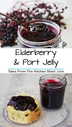 Make the most of the hedgerow harvest with my Elderberry & Port Jelly - delicious on a scone or try in a savoury dish and make a fruity jus or meat glaze! Jelly Recipes, Jam Recipes, Canning Recipes, Chutney Recipes, Drink Recipes, Elderberry Recipes, Elderberry Jam, Elderberry Jelly Recipe, Jam And Jelly