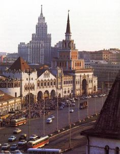 The Kazan Railway station in Moscow, Russia. This photo is thought to have been taken between 1970 and 1971.