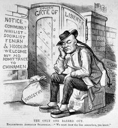 The Chinese exclusion act was a racial challenge. The goal of the act was to banned any Chinese person from going to the U.S.