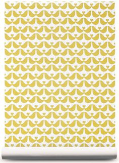 Papier peint Isak Lovebirds - Bianca and Family My Room, Girl Room, Baby Room Decor, Love Birds, Vintage Prints, Textures Patterns, Free Printables, Fabric, Inspiration