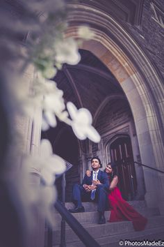 Engagement Photo in Princeton University by PhotosMadeEz for South Indian Wedding. Best Wedding Photographer PhotosMadeEz. Award Winning Photographer Mou Mukherjee.