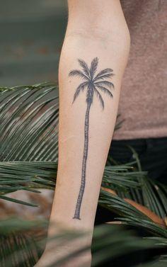 palm tree tattoo idea