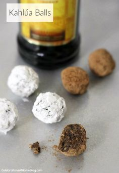 "Try this grown up version of ""cookies & milk"" - Kahlua balls recipe"