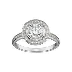 Solitaire Cartier d'Amour pavé Platine, diamants