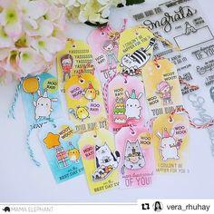 "1,089 Likes, 15 Comments - Mama Elephant (@mamaelephant) on Instagram: ""Tags galore with @vera_rhuhay using #congratsallaround #partyanimals #nomnomkitties and…"""