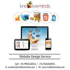 #Website #Design #Service Contact us for more details @ +91 9163363931 Website: www.kre8iveminds.com