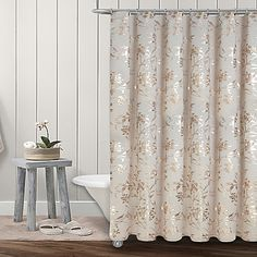 Add A Spiffy Floral Pattern To Your Bathroom With The Fabulous Wildflower Shower Curtain From Colordrift