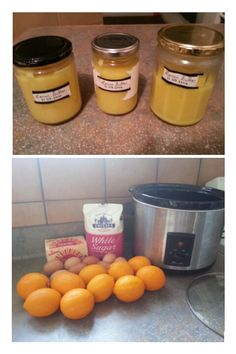 Lemon Butter / Lemon Curd (use sugar sub for low carb; Lemon Jam, Lemon Butter, Lemon Curd, Flavoured Butter, Crock Pot Slow Cooker, Slow Cooker Recipes, Crockpot Recipes, Chicken Recipes, Orange Recipes