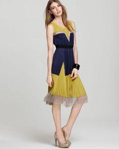 Bcbg Lucea Pleated Colorblock Dress 2012 On Sale [BCBG Lucea dress]
