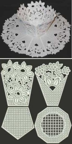 Advanced Embroidery Designs - Flower Bed Bowl and Doily Set