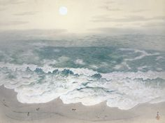 Yokoyama Taikan (Japanese, 1868-1958), ;Autumn,from Four Seasons of the Sea, 1940.Ink and color on silk,Adachi Museum of Art, Yasugi, Shimane. Fromarsvitaest.