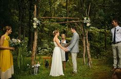 Canopy made of branches - New Zealand ceremony