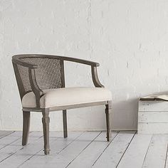 Superbe Swoon Editions The Marlow: French Style Cane Barrel Back Chair In Oatmeal  Linen For
