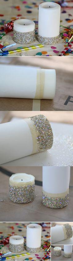 Vela Decorada com Glitter: Descubra como Fazer!