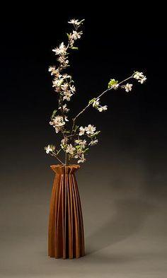 Poppy Vase Wood Vase created by Seth Rolland on Artful Home