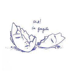 instagram aesthetic sad drawings anxiety grunge journal heart