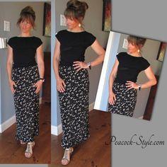 #FashionOver40 long skirt looks like a Maxi Dress