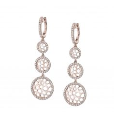Style #ER172  1.01 carat diamond earrings    These stunning rose gold earrings feature 1.01 carats of round diamonds.
