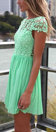 Mint daisy dress