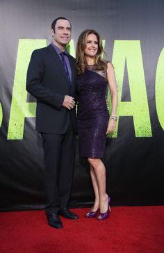 John Travolta y Kelly Preston reaparecen tras los rumores de ruptura en el preestreno de Savages