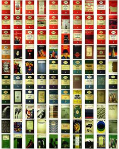 thingsorganizedneatly:    Penguin Book Covers.  photo credit
