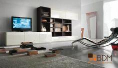 Mueble para tv con librero.