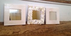 Handmade shabby chic mosaic mirror set button by MosaicTreasureBox
