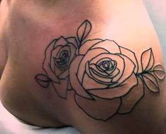 halsey tattoo . Ever since I've started listening to her I've absolutely been obsessed with her outline of roses tattoo