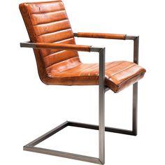 Chaise Cantilever Riffle Buffalo marron - KARE Design