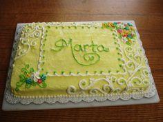 Yellow blossom cake