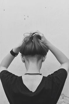 Undercut hairstyle, shaved head, long hair. This is the one I want to ...