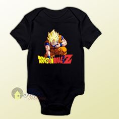 Dragon Ball Z Son Goku Super Saiyan Baby Onesie - Visit now for 3D Dragon Ball Z shirts now on sale!