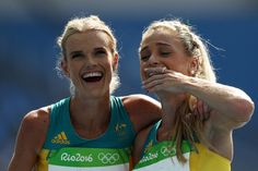 Genevieve LaCaze Photos - Eloise Wellings (L) and Genevieve Lacaze of Australia react after the Women's 5000m Round 1 - Heat 2 on Day 11 of the Rio 2016 Olympic Games at the Olympic Stadium on August 16, 2016 in Rio de Janeiro, Brazil. - Athletics - Olympics: Day 11