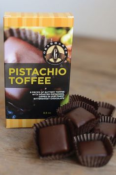 Chocolate Dipped Pistachio Toffee – Gearharts Fine Chocolates