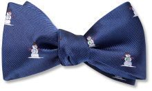 Ives Pictorial Blue (Silk Bow Ties) - Beau Ties Ltd of Vermont
