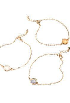 Iridescent Charm Bracelet Set | FOREVER 21 - 1000082075