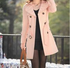 Collection Pink Pea Coat Womens Pictures - Reikian