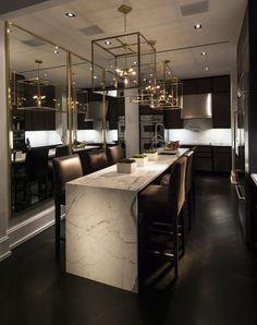 Interior Design Minimalist, Luxury Kitchen Design, Luxury Kitchens, Interior Design Kitchen, Interior Decorating, Kitchen Designs, Interior Ideas, Decorating Ideas, Room Interior